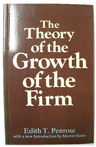 9780631122319: Theory of the Growth of the Firm