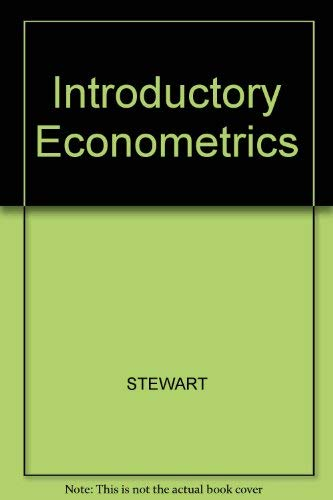 9780631125693: Introductory Econometrics