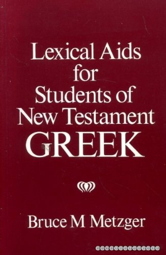 9780631126058: Lexical Aids for Students of New Testament Greek