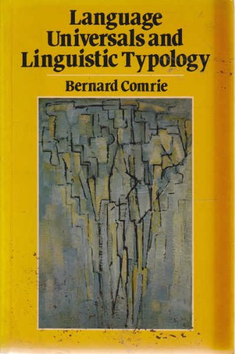 9780631126188: Language Universals and Linguistic Typology: Syntax and Morphology
