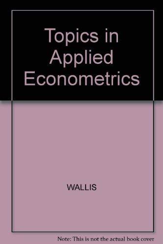 9780631126218: Topics in Applied Econometrics