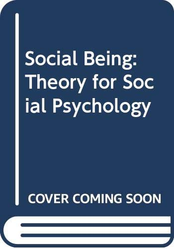 9780631127918: Social Being: Theory for Social Psychology