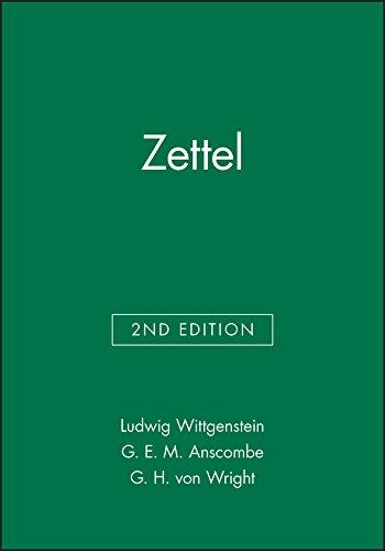 9780631128137: Zettel (Open University Set Books) (English and German Edition)