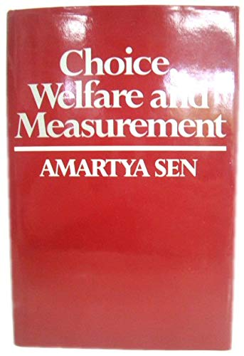 9780631129141: Choice, Welfare and Measurement