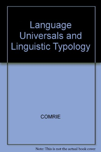 9780631129714: Language Universals and Linguistic Typology