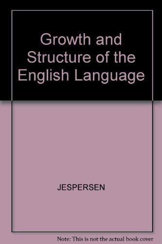9780631129868: Growth and Structure of the English Language