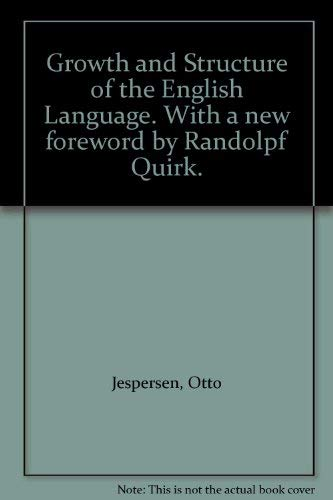 9780631129875: Growth and Structure of the English Language