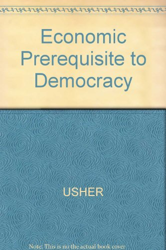 9780631130574: Economic Prerequisite to Democracy