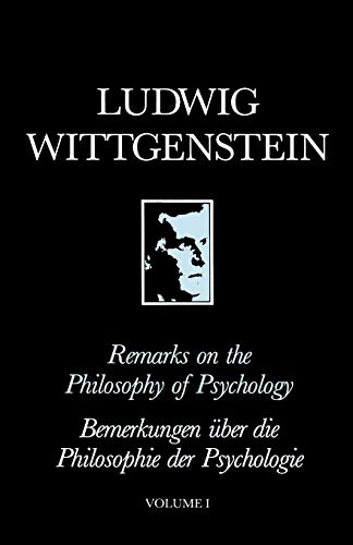 9780631130611: Remarks on the Philosophy of Psychology, Volume 1