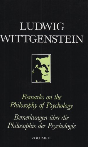9780631130628: Remarks on the Philosophy of Psychology Volume 2
