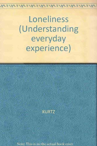 9780631130840: Loneliness (Understanding everyday experience)