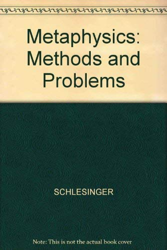 9780631131243: Metaphysics: Methods and Problems