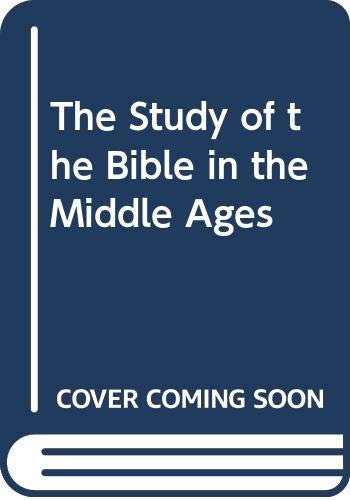 9780631131687: The Study of the Bible in the Middle Ages