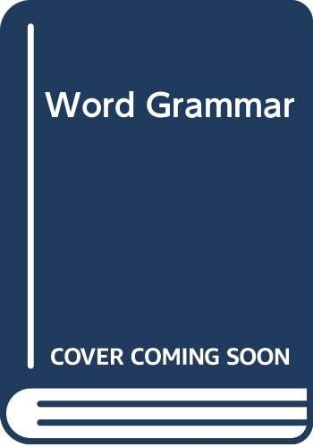 9780631131861: Word Grammar