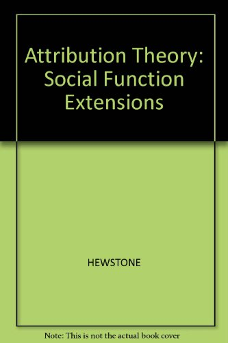 9780631132578: Attribution Theory: Social and Functional Extensions