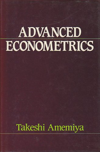 9780631133452: Advanced Econometrics