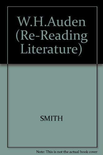 9780631133810: W.H. Auden (Re-Reading Literature)