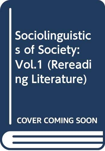 9780631133858: Sociolinguistics of Society: Vol.1 (Language in society)