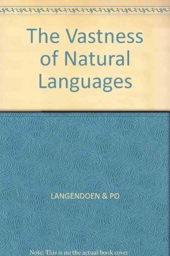 9780631134619: The Vastness of Natural Languages
