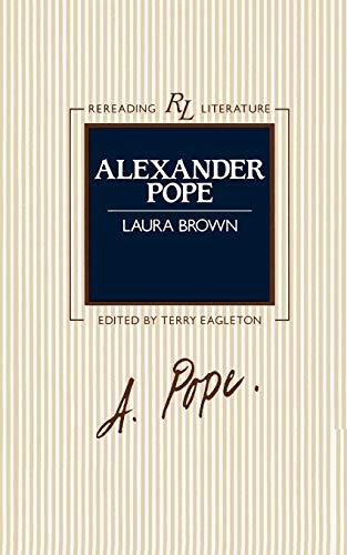 9780631135036: Alexander Pope (Rereading Literature)