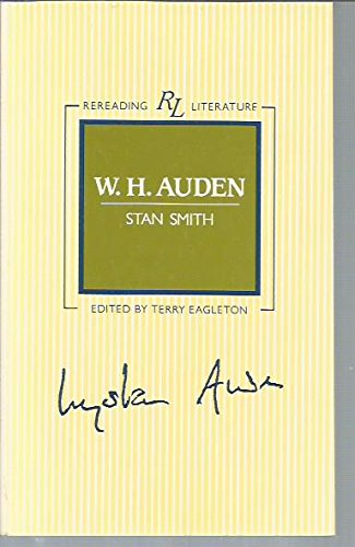 9780631135159: W. H. Auden (Rereading Literature)