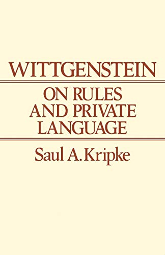 9780631135210: Wittgenstein Rules and Private