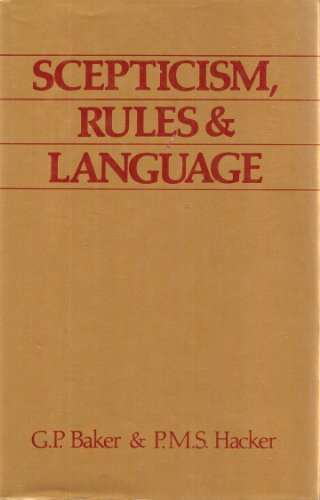 9780631136149: Scepticism, Rules and Language