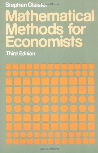 9780631137122: Mathematical Methods for Economists