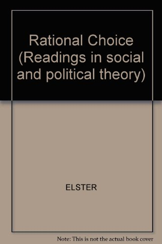 9780631138075: Rational Choice (Readings in social and political theory)