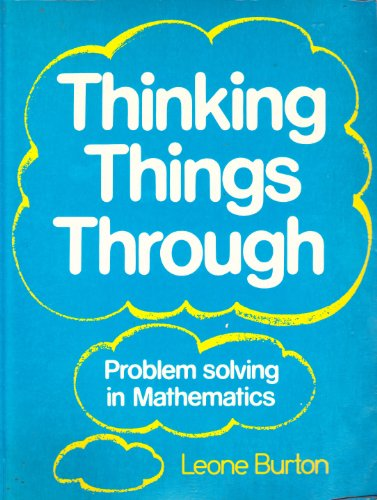 9780631138136: Thinking Things Through: Problem Solving in Mathematics