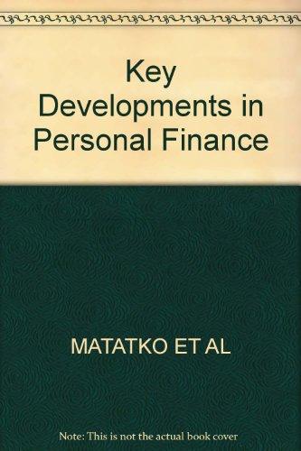 Key Developments in Personal Finance (0631138277) by John Matatko; David Stafford