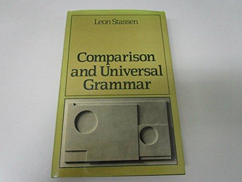 9780631140580: Comparison and Universal Grammar