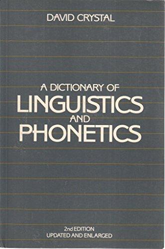 9780631140818: A Dictionary of Linguistics and Phonetics