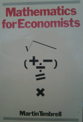9780631140870: Mathematics for Economists: An Introduction