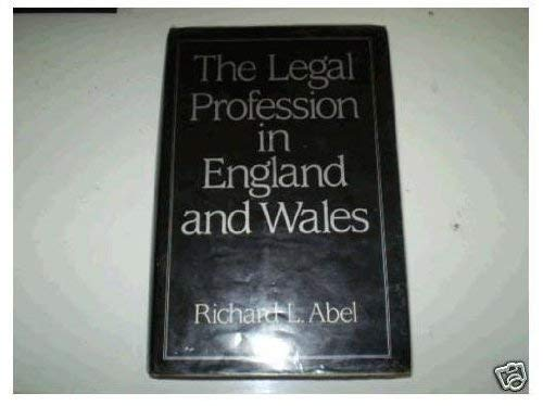 9780631141112: Legal Profession in England and Wales
