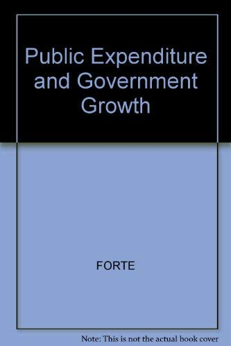 9780631141822: Public Expenditure and Government Growth