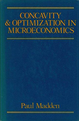9780631141921: Concavity and Optimization in Microeconomics