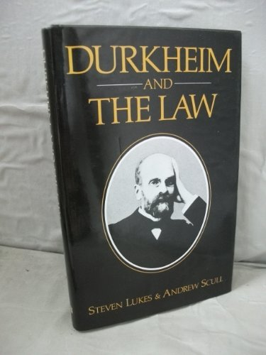 9780631142195: Durkheim and the Law