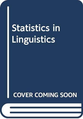 9780631142645: Statistics in Linguistics