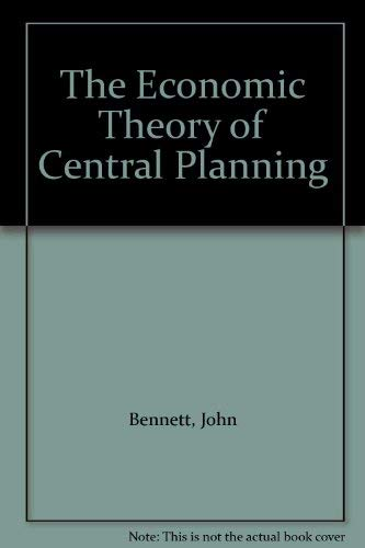 9780631142768: The Economic Theory of Central Planning