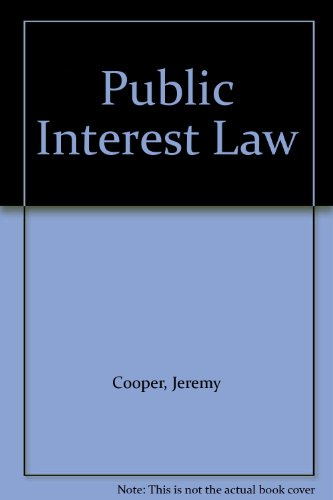 Public Interest Law (0631142991) by Jeremy Cooper; Rajeev Dhavan