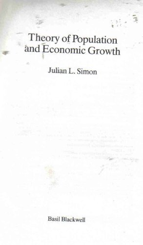 9780631144274: Theory of Population and Economic Growth