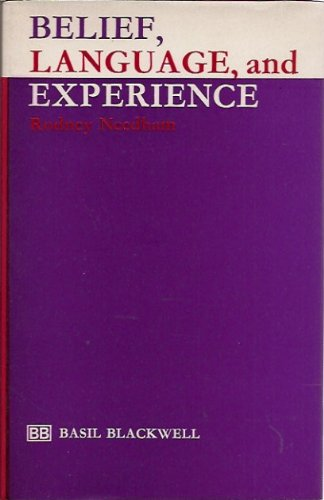 9780631144304: Belief, Language and Experience