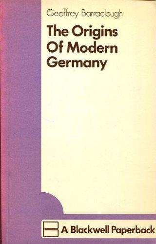 9780631144403: Origins of Modern Germany