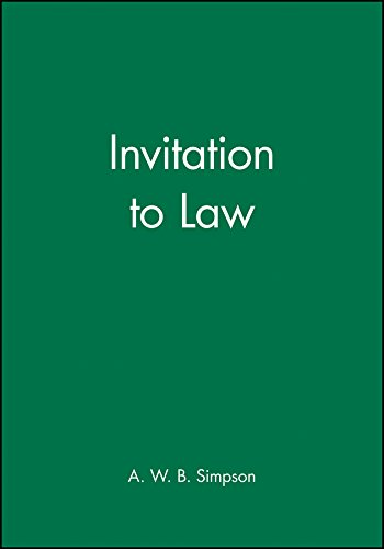 9780631145387: Invitation to Law (Invitation Series)