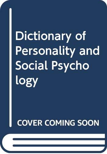 9780631146025: The dictionary of personality and social psychology