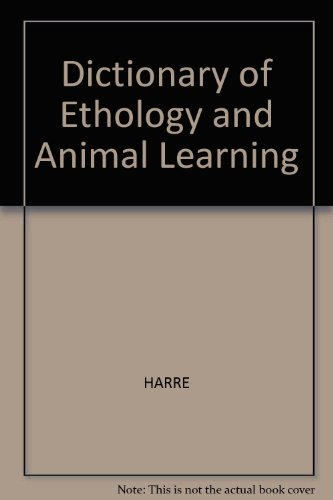 9780631146070: Dictionary of Ethology and Animal Learning