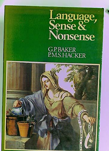 9780631146575: Language, Sense and Nonsense: A Critical Investigation into Modern Theories of Language