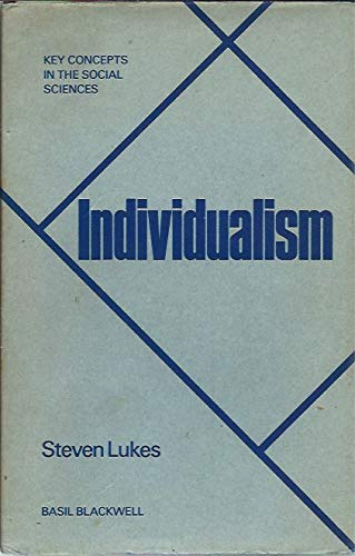 9780631147503: Individualism (Key Concepts in the Social Sciences)