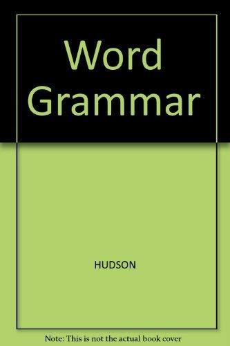 9780631147572: Word Grammar